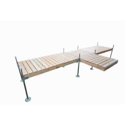 8 ft. Shore T-Style Cedar Complete Dock Package