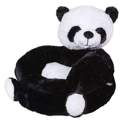 Black, White Children's Plush Panda Character Chair