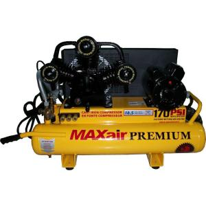 Maxair Wheelbarrow, 8-Gal. Portable Electric Air Compressor by Maxair