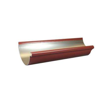 6 in. x 10 ft. Half Round Scotch Red Aluminum Gutter