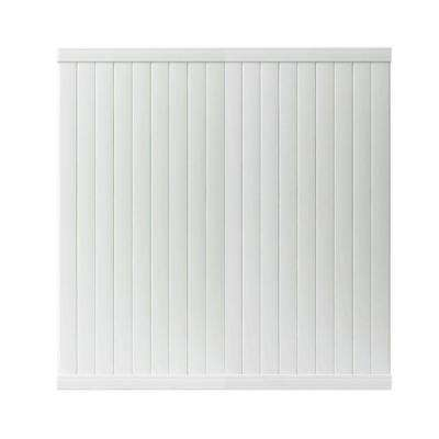 Somerset 6 ft. H x 6 ft. W White Vinyl Privacy Fence Panel
