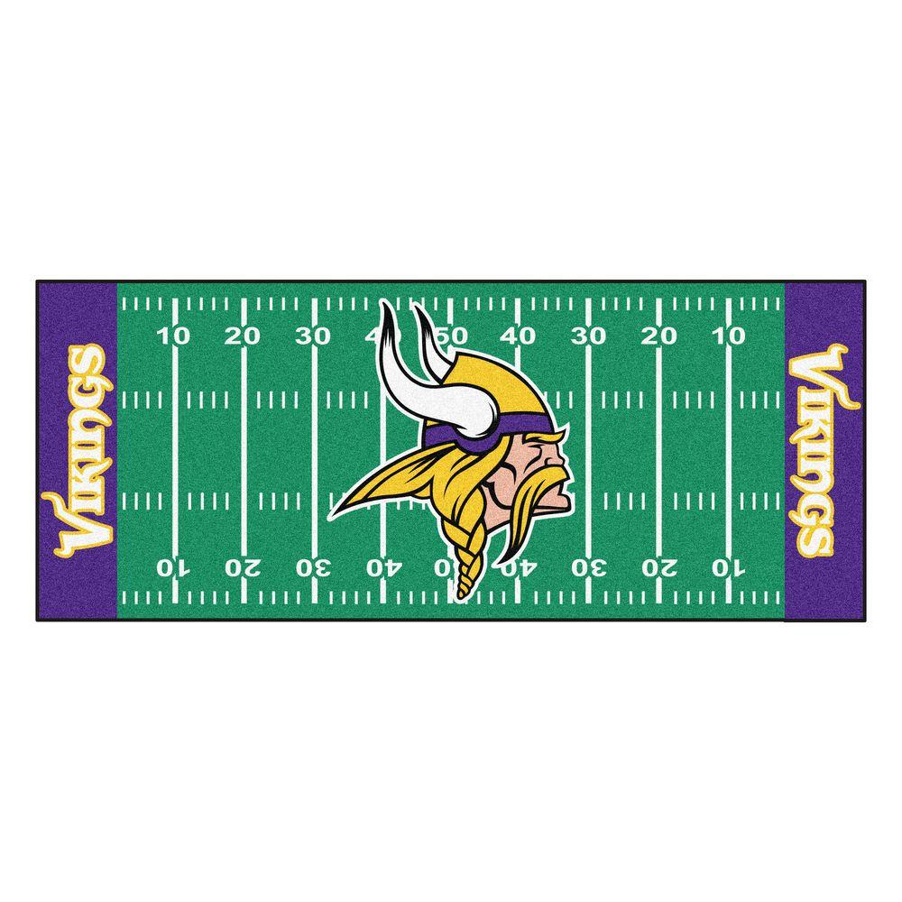 Fanmats Minnesota Vikings 2 Ft 6 In X 6 Ft Football