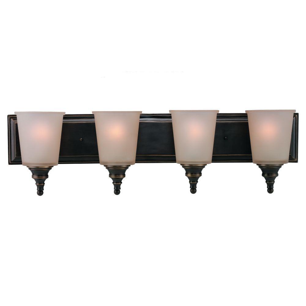 Sea Gull Lighting Warwick 4-Light Vintage Bronze Vanity Fixture