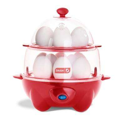 Deluxe 12-Egg Cooker in Red
