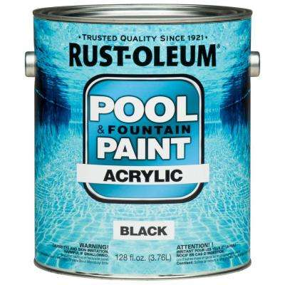 1 gal. Black Acrylic Pool and Fountain Paint (Case of 2)