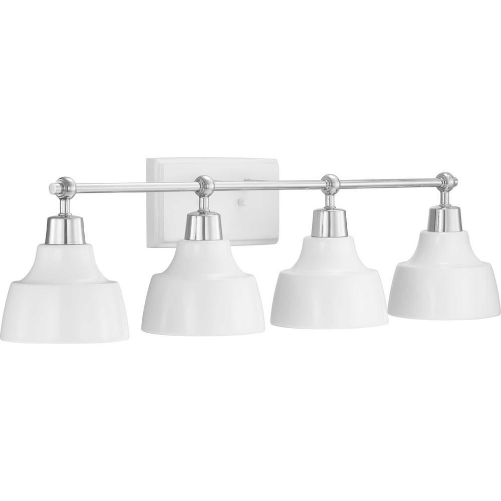 Progress Lighting Bramlett Collection 4-Light Chrome Vanity Light