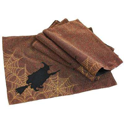 0.2 in. H x 18 in. W x 13 in. D Witching Hour Halloween Placemats (Set of 4)
