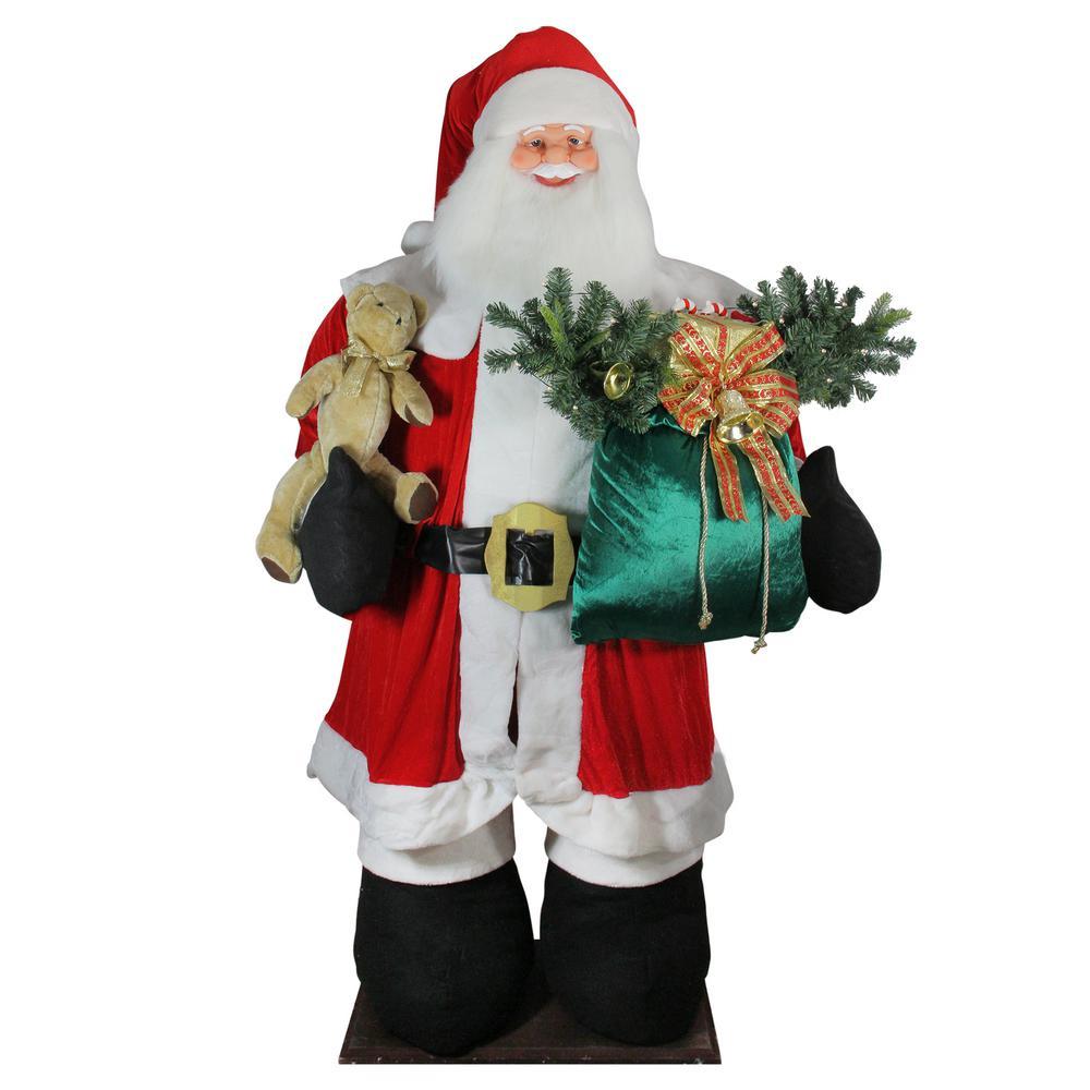 8 ft. Huge LED Musical Inflatable Santa Claus Christmas Figure with Gift Bag