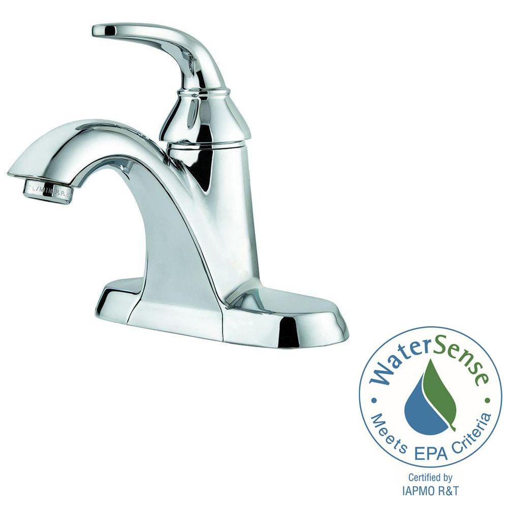 Pfister Pasadena 4 In. Centerset Single Handle Bathroom Faucet In Polished  Chrome