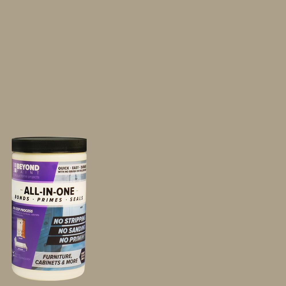Beyond Paint Beyond Paint 1 qt. Pebble Furniture, Cabinets and More Multi-Surface All-in-One Interior/Exterior Flat Refinishing Paint
