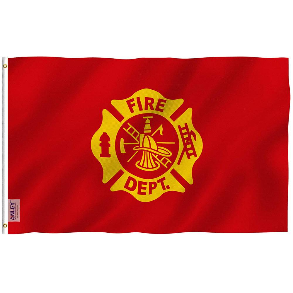 Anley Fly Breeze 3 Ft X 5 Ft Polyester Usa Fire Department Flag 2 Sided Flags Us Firefighter Service Sector Flag A Flag Sp Firedepartment The Home Depot