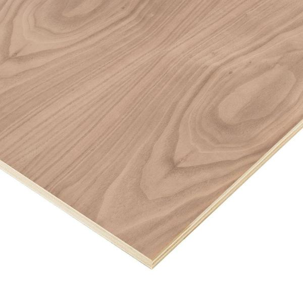 Columbia Forest Products 3 4 In X 2 Ft X 8 Ft Purebond Walnut Plywood Project Panel Free Custom Cut Available 2344 The Home Depot