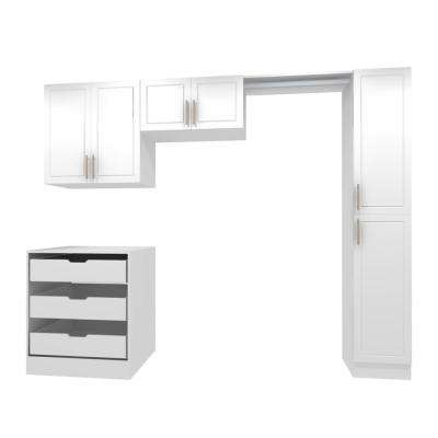 Madison 105 in. W White Laundry Cabinet Kit