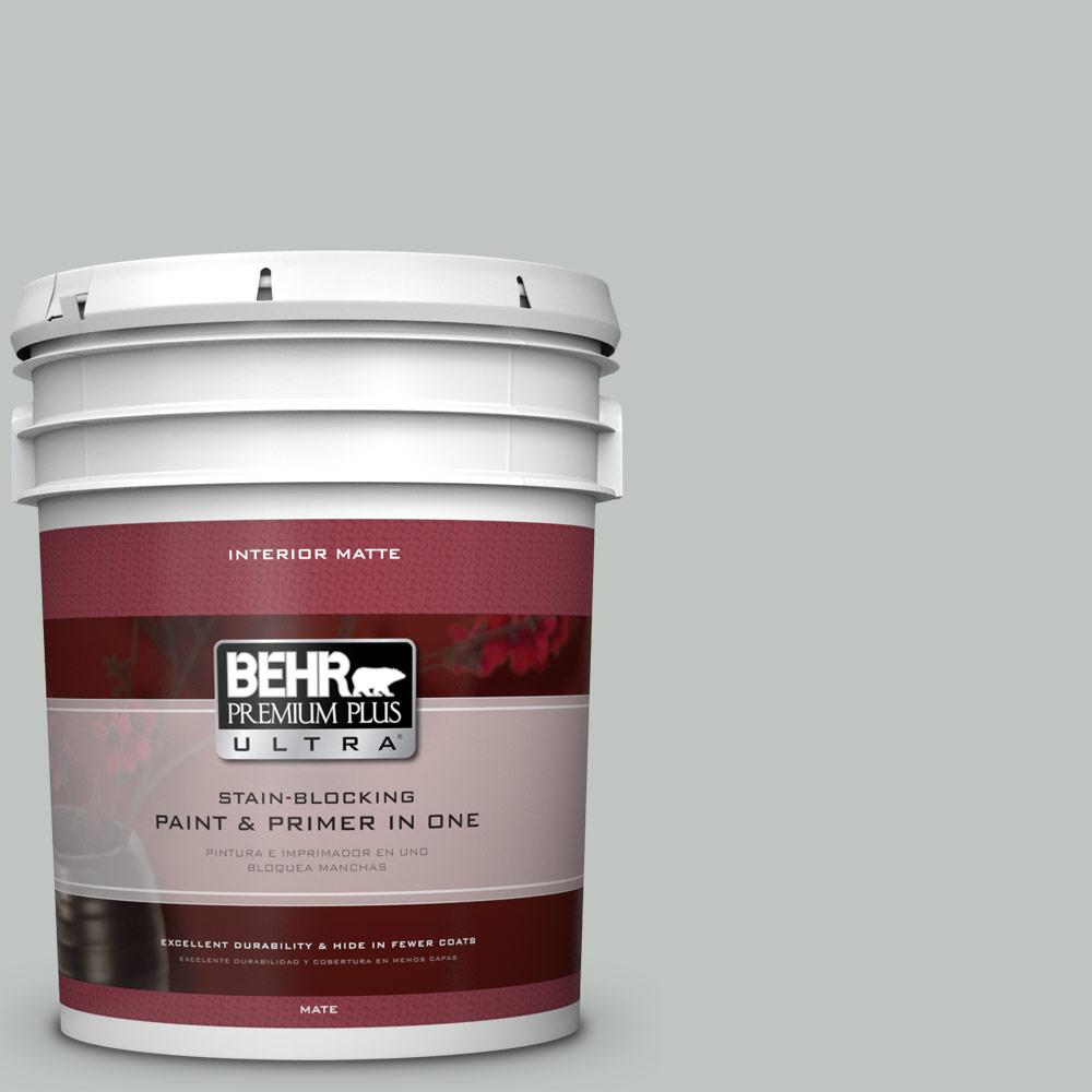 5 gal. #PPU25-14 Engagement Silver Matte Interior Paint and Primer in