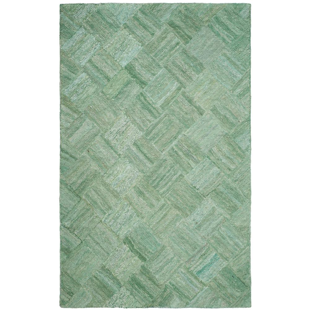 Nantucket Green/Multi 6 ft. x 9 ft. Area Rug