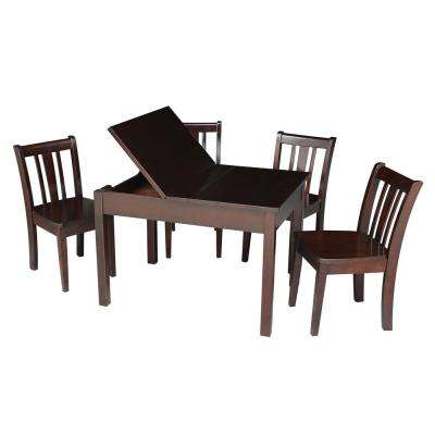 Jorden Lift-top Storage 5-Piece Mocha Kid's Table Set