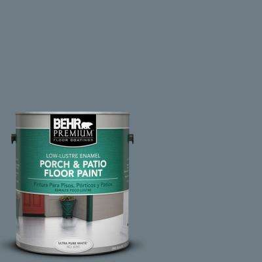 1 gal. #PPF-38 Deep Shale Low-Lustre Porch and Patio Floor Paint