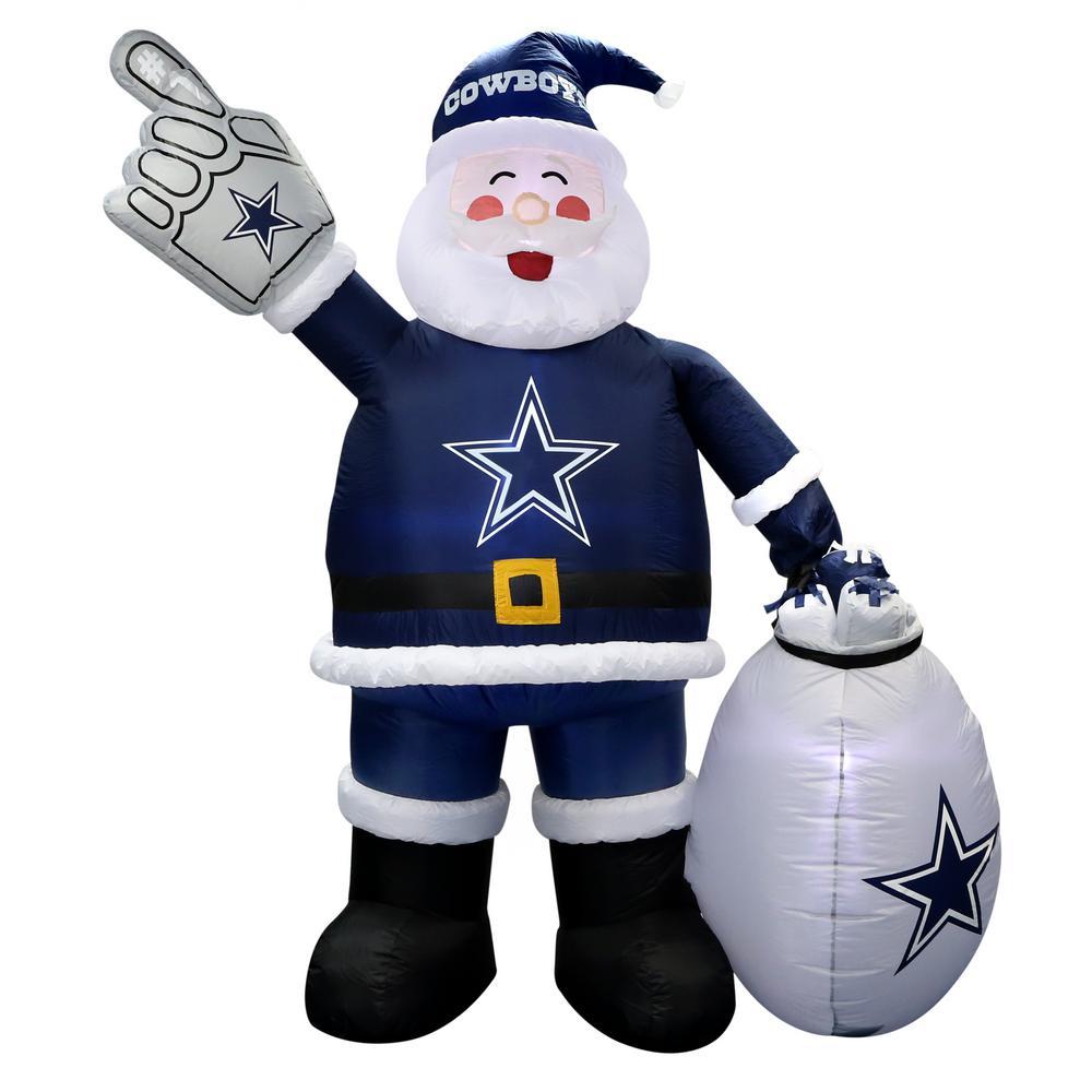 7 ft. Dallas Cowboys Santa Inflatable