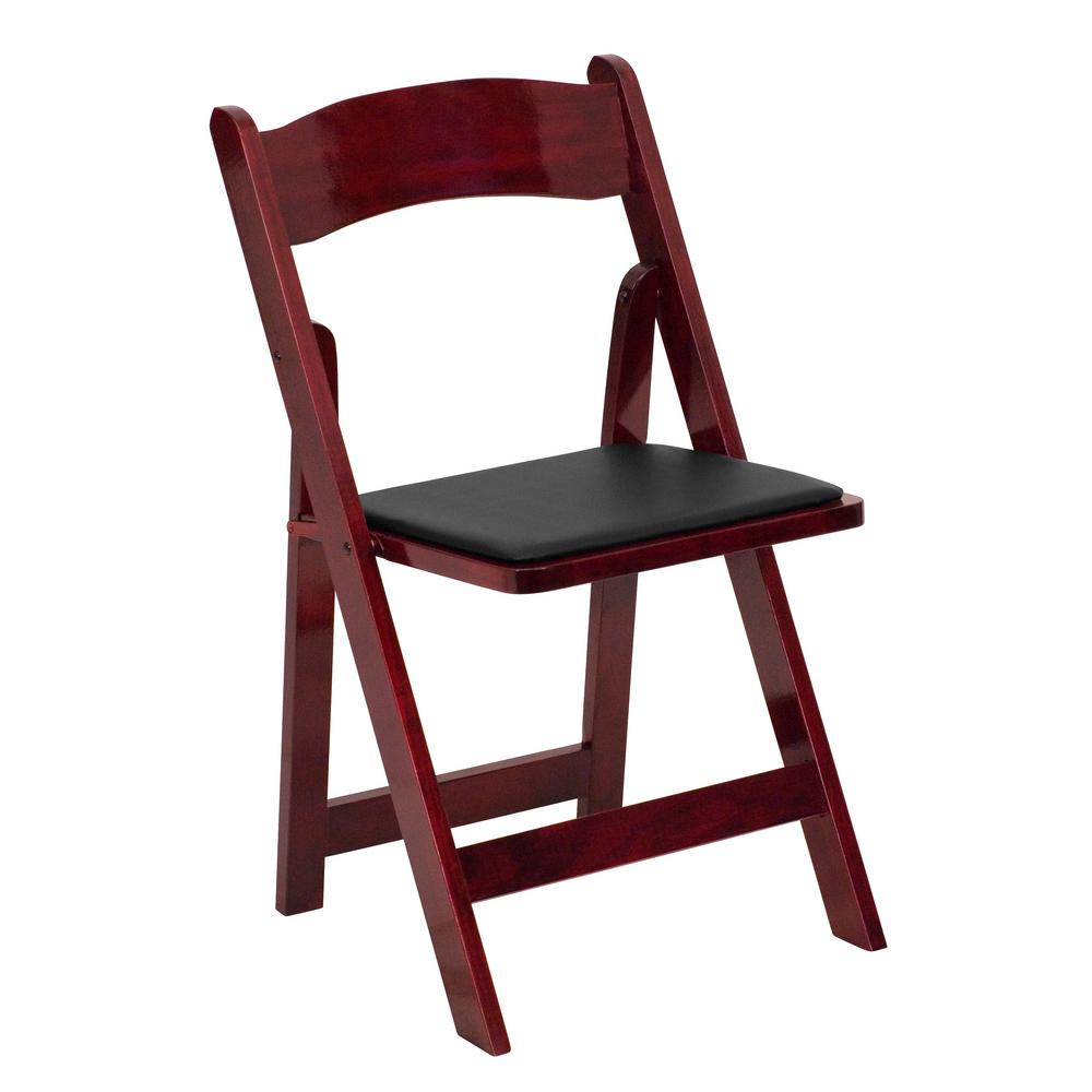 This Review Is From Hercules Series Mahogany Wood Folding Chair With Vinyl Padded Seat
