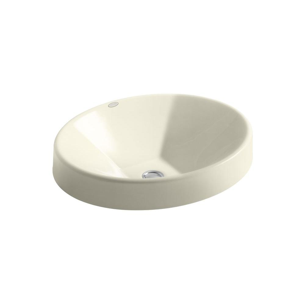 KOHLER Inscribe Wading Pool Drop-in Bathroom Sink in Cane Sugar