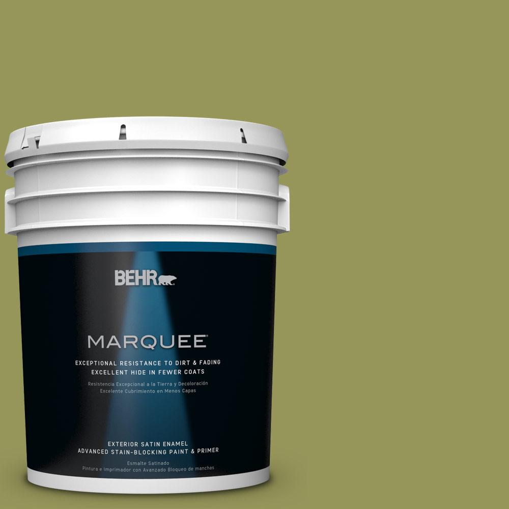 5-gal. #M340-6 Spinach Dip Satin Enamel Exterior Paint