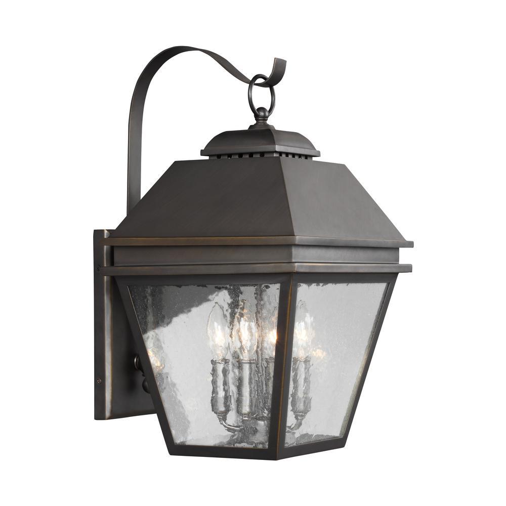 Herald 4-Light Antique Bronze Outdoor Wall Lantern