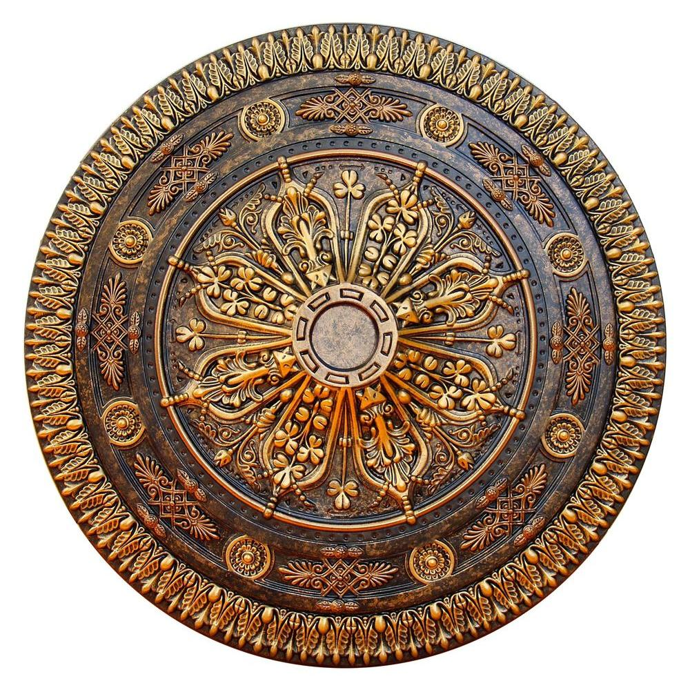 antique brass upc lighting in ceiling sale medallion sku laureldale product