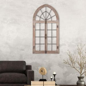 Pinnacle Arched Cathedral Window Frame Wooden Wall Art 1805 3708