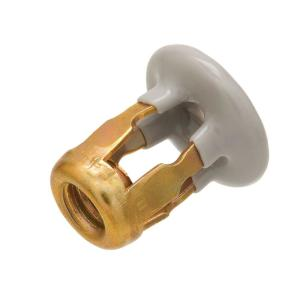 1/4 in. Brass Plated Mirror Mount Nut