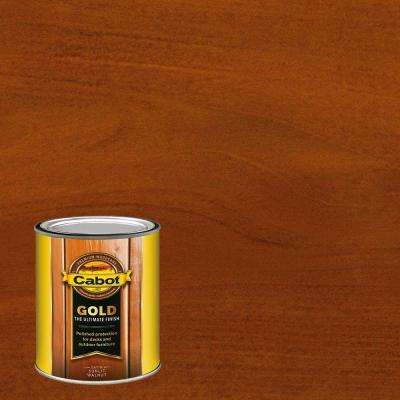 1 qt. Sunlit Walnut Gold Oil Exterior Deck Varnish, VOC Compliant