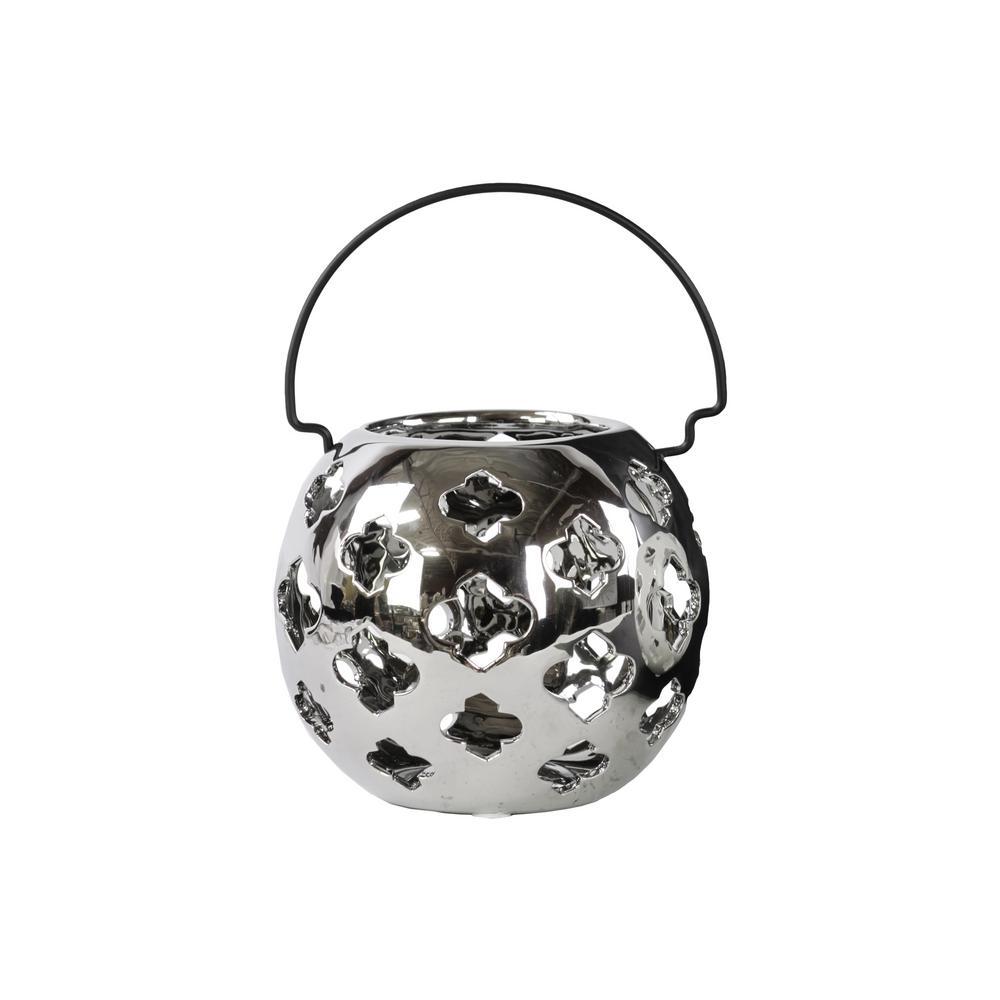 Silver Candle Porcelain Decorative Lantern