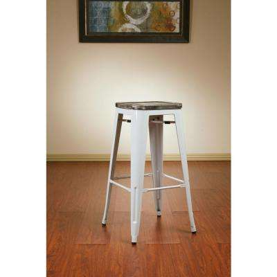 Bristow 30 in. White Bar Stool (Set of 4)