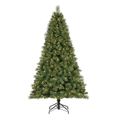 9 ft. Artificial Cascade Pine Christmas Tree with Color Changing Lights