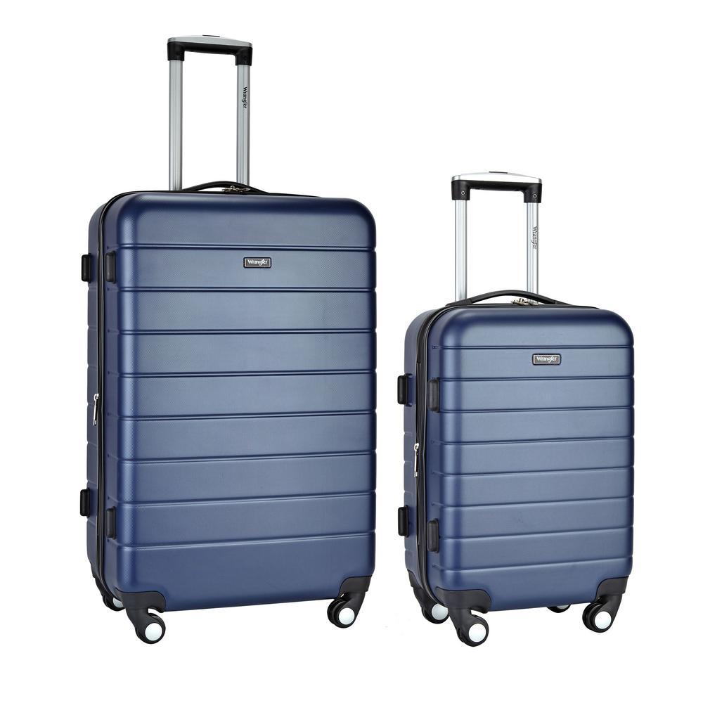 Wrangler Navy Expandable Hardside Rolling Vertical Luggage Set (2-Piece)