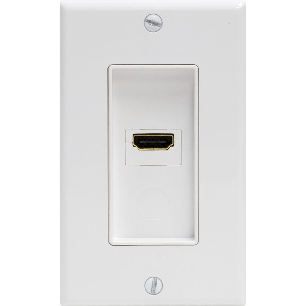 GE UltraPro 1 HDMI Wall Plate - White
