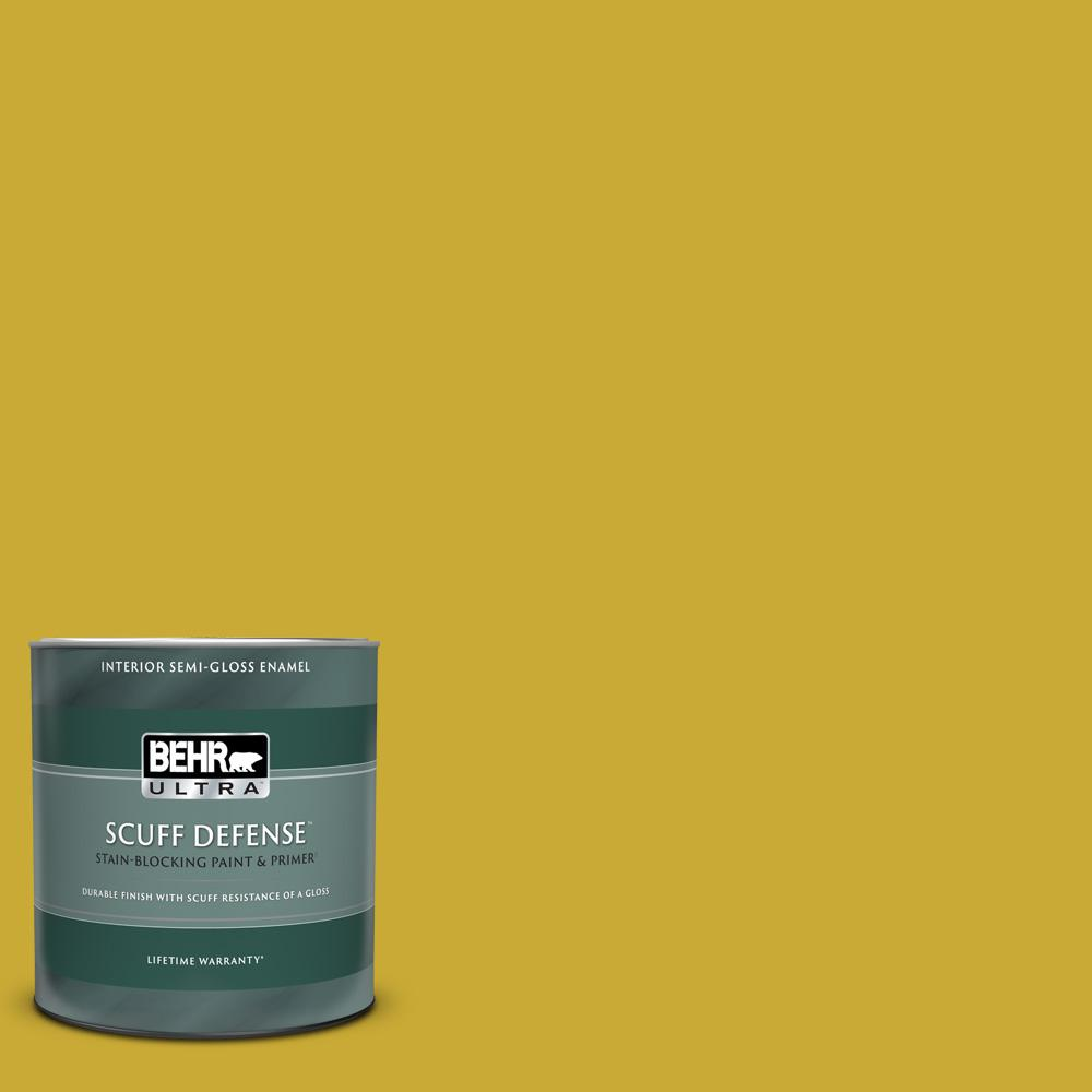 Behr Ultra 1 Qt P320 7 Sweet And Sour Extra Durable Semi Gloss Enamel Interior Paint And Primer In One 375304 The Home Depot