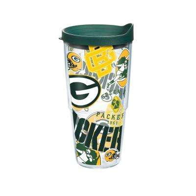 NFL Green Bay Packers All Over 24 oz. Double Walled Insulated Tumbler with Travel Lid