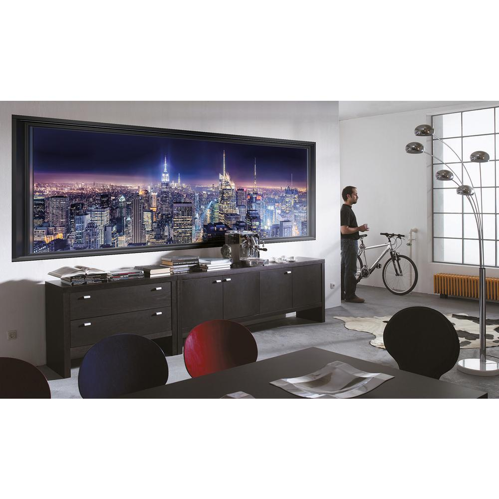 Komar cityscape sparkling new york wall mural 4 877 the for Cityscape wall mural