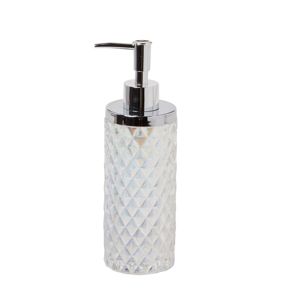 SKL Home Frosted Free Standing Lotion Dispenser in Frosty