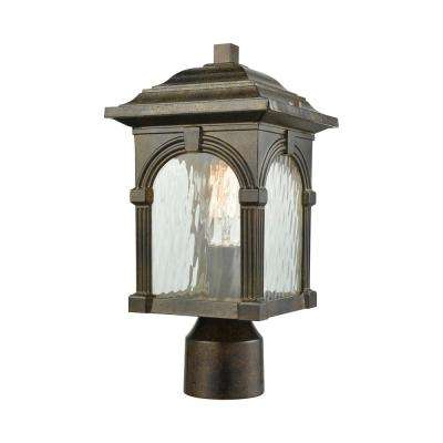 Stradelli 1-Light Outdoor Hazelnut Bronze Post Light