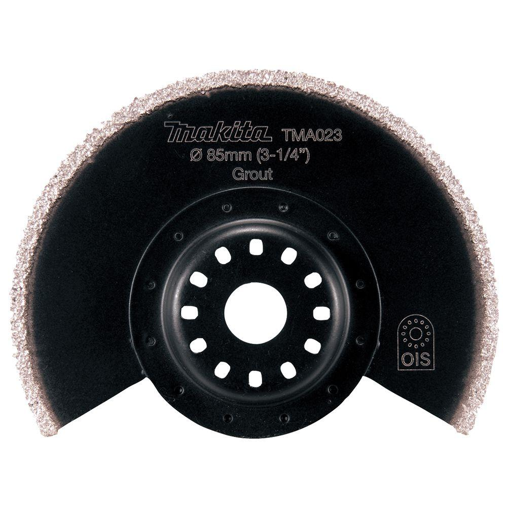 3-1/2 in. Tipped Carbide Segmented Saw Blade, Compatible with Oscillating Multi