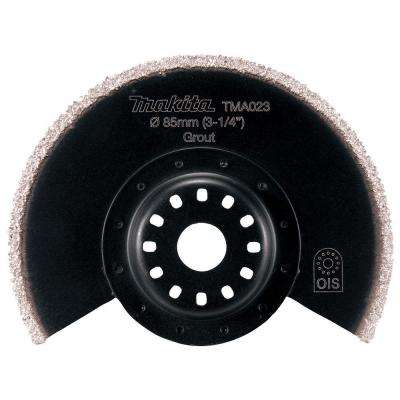 3-1/2 in. Tipped Carbide Segmented Saw Blade, Compatible with Oscillating Multi Tools