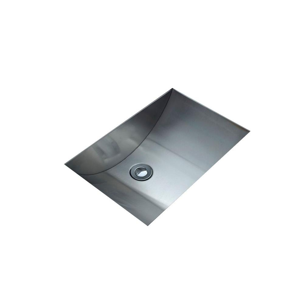 Cantrio Undermount Bathroom Sink in Stainless Steel