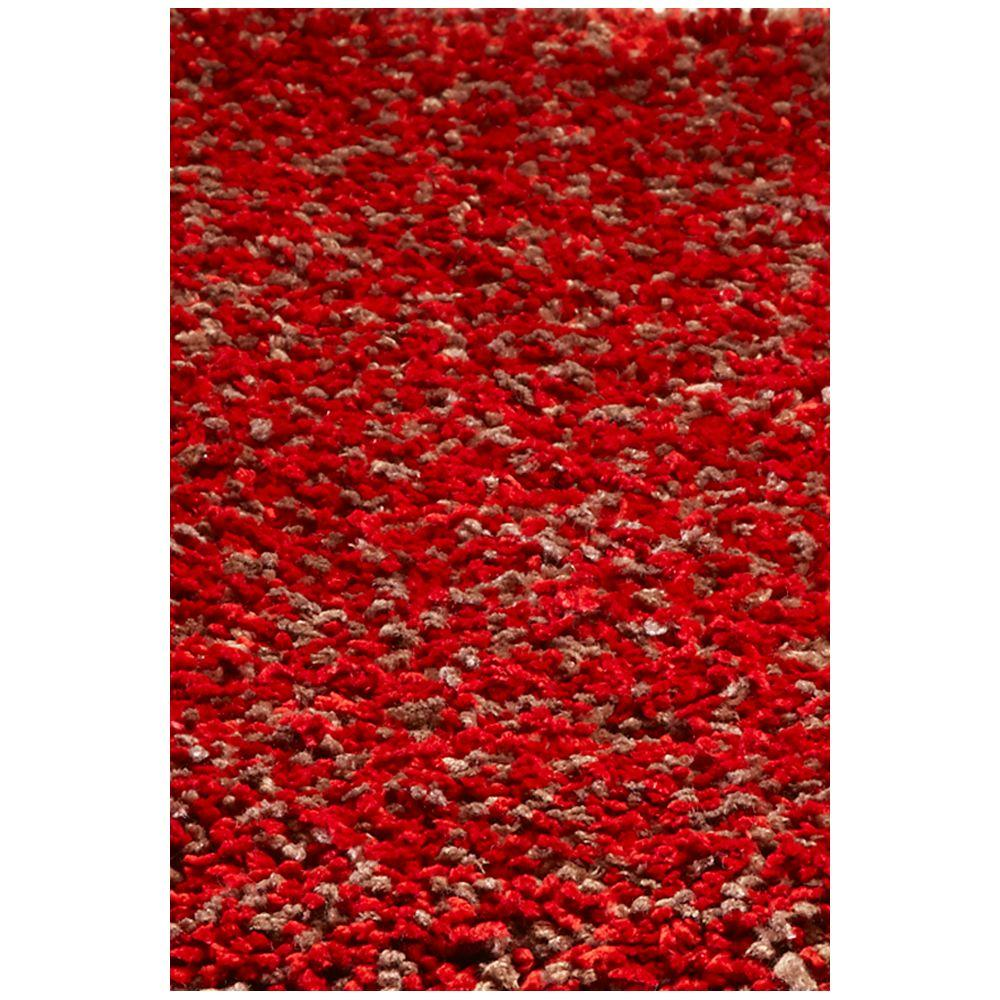 Kas Rugs Cushy Shag Rug Red Heather 7 ft. 6 in. x 9 ft. 6 in. Area Rug