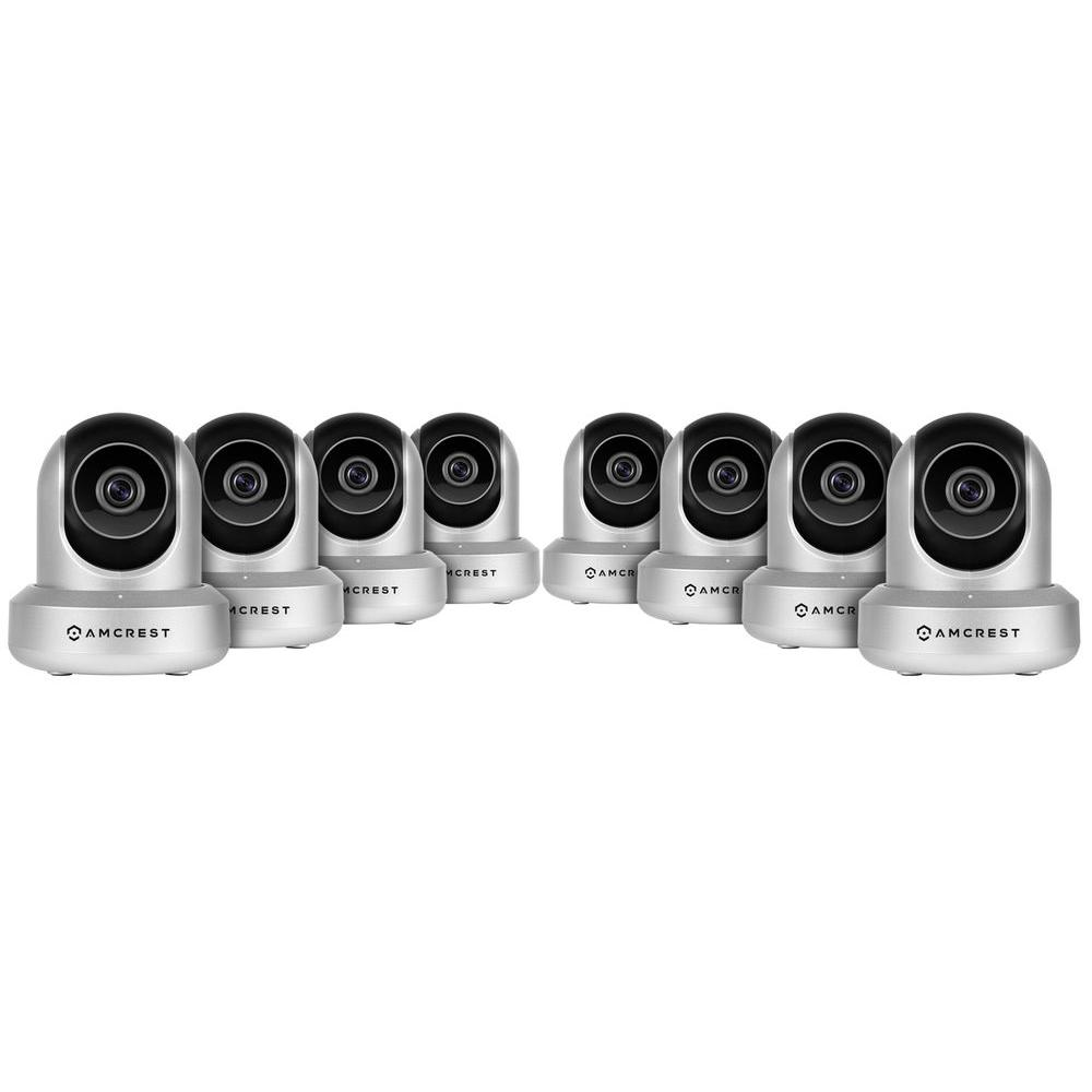Amcrest HDSeries 720p Wi-Fi Wireless IP Security Surveillance Camera System with HD Megapixel 720p (1280TVL) (8-Pack)