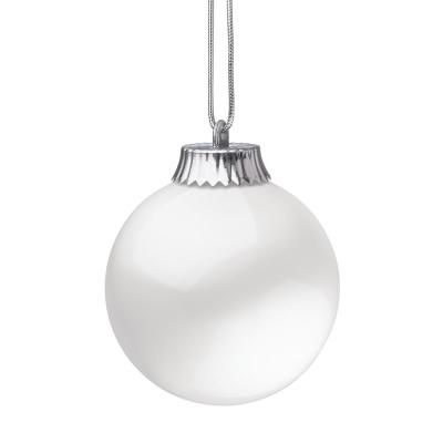 5 in. White LED Outdoor Hanging Globe Ornament