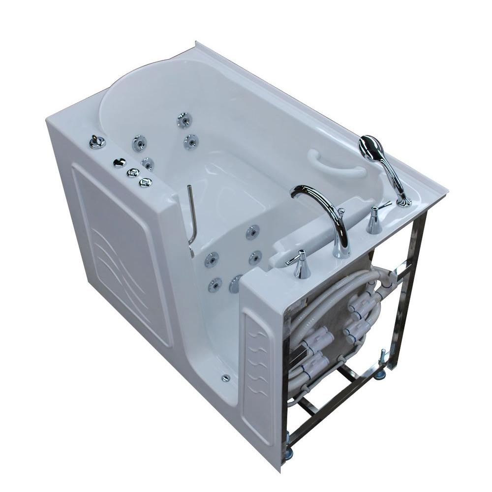 Universal Tubs 4.5 ft. Right Drain Walk-In Whirlpool Bath Tub in ...