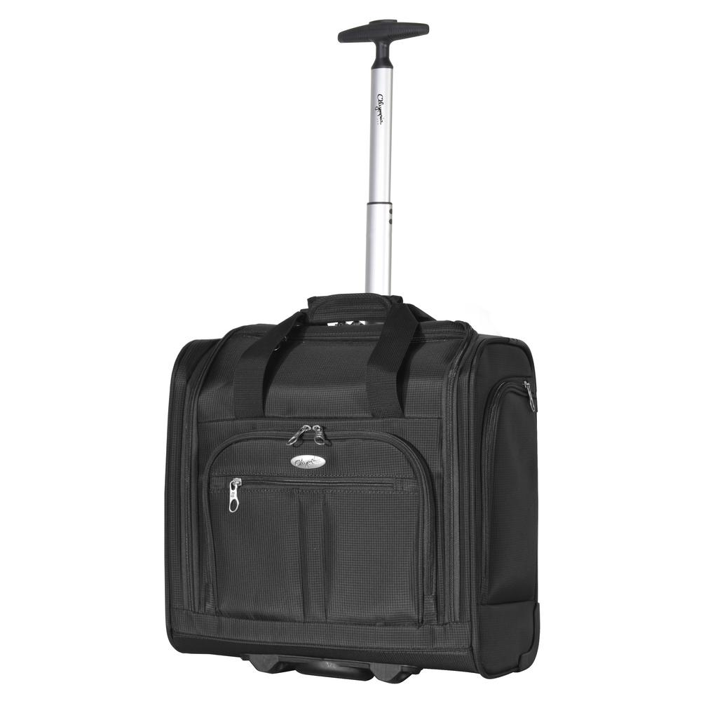 OLYMPIAUSA Olympia USA Lansing Under the Seat Wheeled Carry-On, Black