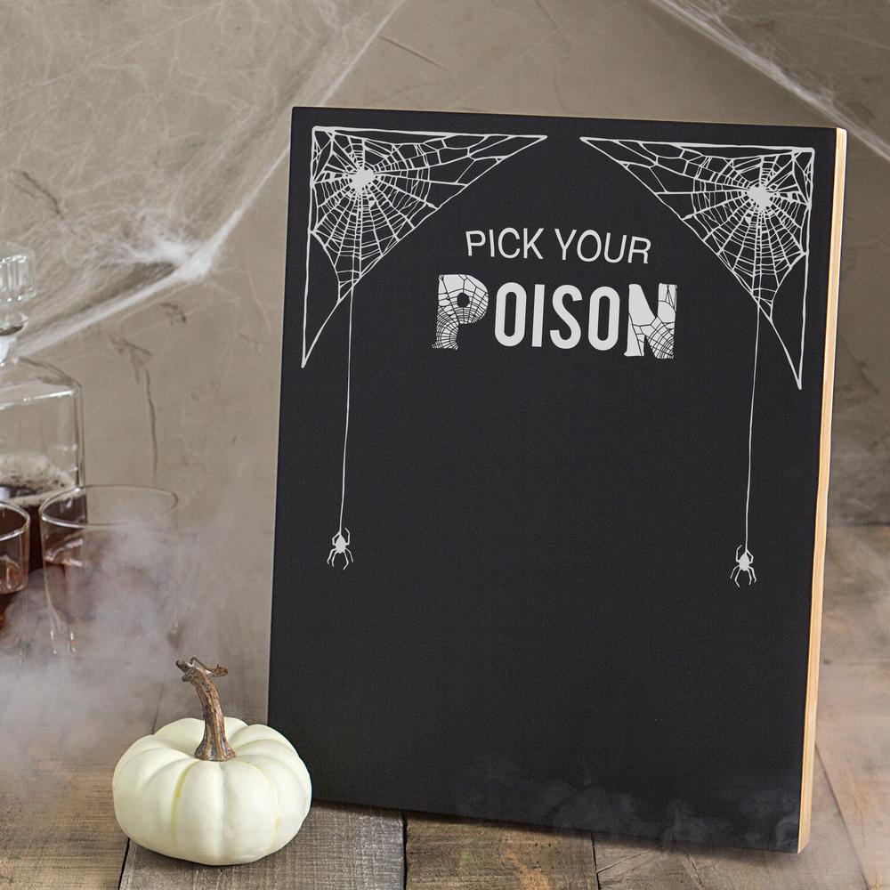 14 in. x 11 in. Pick Your Poison Printed Chalkboard Wall