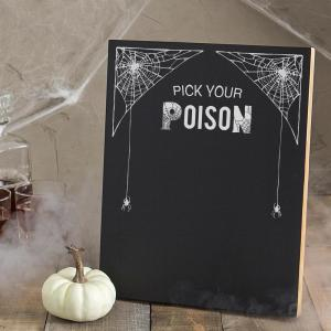 14 inch x 11 inch Pick Your Poison Printed Chalkboard Wall Art by